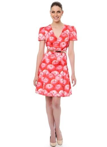 Elma Desenli Kloş Elbise-Jus De Pommes